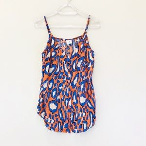 CAbi Isla Cami Tank Animal Print Top 5040
